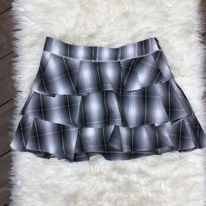DEREK LAM 10 CROSBY Plaid Ruffle Layer Skirt